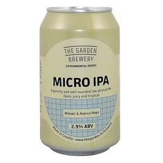 The Garden Brewery Micro IPA 0,33l Garden Brewery, Shops, Ipa, Craft Beer, Foodies, Brewery, News, Tents, Retail