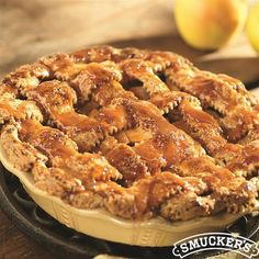 This Caramel-Apple Pie Recipe from Smucker's® is sure to be a Thanksgiving show stopper!