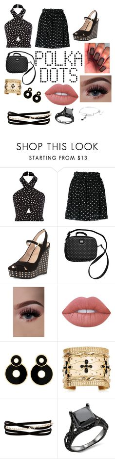 """""""Polka what"""" by mebanks05 on Polyvore featuring Ganni, Tory Burch, Dolce&Gabbana, Lime Crime, Aurélie Bidermann, Kenneth Jay Lane and Alex and Ani"""