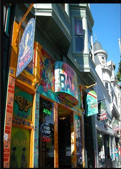 Haight Street, where the Haight-Ashbury of the 60s is alive and well in the vibrant neighborhood.