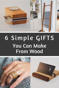 Here are some easy woodworking projects that make great homemade gifts. Small Woodworking Projects, Diy Wood Projects, Diy Woodworking, Diy Holiday Gifts, Diy Gifts, Wooden Christmas Crafts, Wood Gifts, Wood Working For Beginners, Simple Gifts