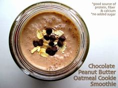 Full Belly Sisters: Chocolate Peanut Butter Oatmeal Cookie Smoothie