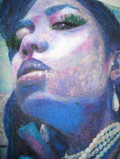 Self portrait oil pastel