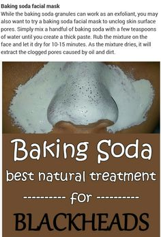 Baking Soda Facial, Beauty Tips, Beauty Hacks, Facial Cleansing, Facial Masks, Health And Beauty, Skin Care, Face, Diy