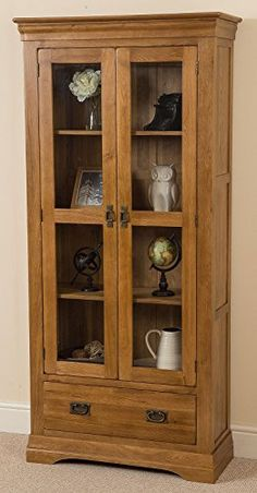 Exceptionnel French Rustic Solid Oak Glass Display Cabint With Drawer. Oak Living Room  ...
