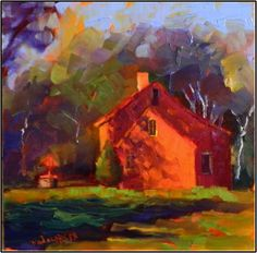 """Paint Dance: """"The Wishing Well House"""", 6x6 oil on board"""