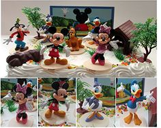 Mickey Mouse Clubhouse Birthday Cake Topper Featuring Mickey Mouse Minnie Mouse Donald Duck Daisy Duck Goofy Pluto and Other Themed Decorative Cake Pieces -- You can get additional details at the image link.
