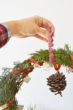 Como hacer una corona de Navidad Christmas wreath