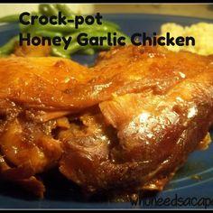 Crockpot Honey Garlic Chicken.. In the crockpot now!