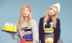 [gif] After School's Lizzy and Nana during 'CeCi' photoshoot