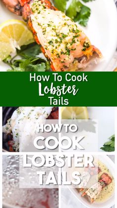 How to Cook Lobster Tails - - Everything you need to know to cook Garlic Butter Lobster Tails: Several methods, how to butterfly the lobster tails, clean them, and cook them for a great lobster dinner at home. Lobster Tail Pastry, Cooking Frozen Lobster Tails, Baked Lobster Tails, Broiled Lobster Tails Recipe, Grilled Lobster, Boil Lobster Tail, Lobster Recipes, Fish Recipes, Seafood Recipes