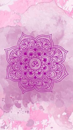 Pink Mandala on Watercolor Cell Background Beautiful Wallpapers For Iphone, Cute Wallpaper Backgrounds, Colorful Wallpaper, Cute Wallpapers, Mandala Art, Mandala Design, Wiccan Wallpaper, Mandala Wallpaper, Iphone Wallpaper Yoga