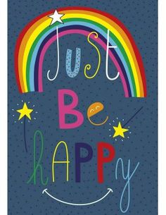 "Carte d'Art ""Just Be Happy"""