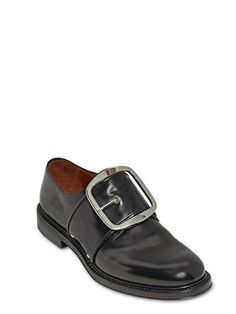 MATTE BRUSHED LEATHER BUCKLE SHOE