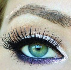 purple sparkle #makeup