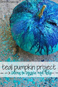 The Teal Pumpkin Project: How to Participate and a Little Inspiration for Halloween with Kids Halloween Themed Food, Halloween House, Halloween Treats, Halloween Pumpkins, Fall Halloween, Halloween Goodies, Halloween 2019, Autumn Activities For Kids, Halloween Crafts For Kids
