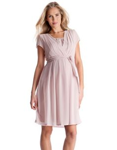 Blush Pink Maternity & Nursing Dress.  If the color works and if I can find one in my size