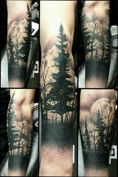 Stunning forest tattoo