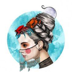 Belles illustrations de Mustafa Soydan, univers mode, très féminin, sensuel et moderne mêlés à de la photographie
