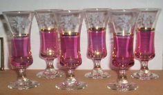 Cranberry Liquer Glasses