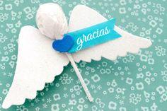 Souvenir para bautizo, ángeles con chupetines | Blog de BabyCenterm @Carolina Krupinska Llinas