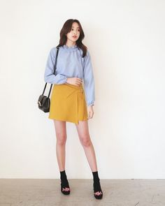 Women's Work Fashion Office Fashion Women, Womens Fashion For Work, Girl Fashion, Fashion Looks, Fashion Outfits, Korea Fashion, Fashion 2018, Daily Fashion, Best Casual Outfits