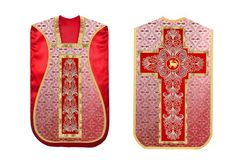 Red #romanchasuble
