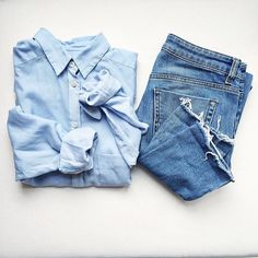 Denim Vibes Via @myfashioninspo | Grazia (http://lifestyle.one/grazia/fashion/trends/denim-trends-spring-summer/)