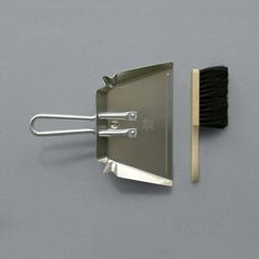 It's got to be done - may as well do it with something classy: Aluminium Dustpan and Brush