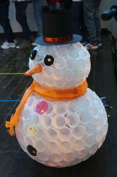 Snowman made of cups :)