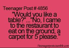 Carpet for five please. Where are we, Arabia?