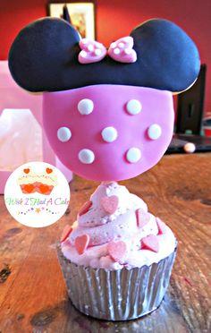 Minnie Mouse Cupcake by Wish I Had A Cake