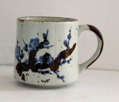 Vintage Japanese Cherry Blossom Pottery Coffee by TangibleGoodies