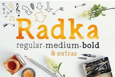 Radka: handmade font family + extras by Mammoth! on @creativemarket
