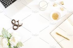 Styled stock Photos | Neutral and Gold by Muriel Silva Photography on @creativemarket