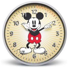 Echo Wall Clock - Disney Mickey Mouse Edition Disney Mickey Mouse, Walt Disney, Disney World Menus, Mantel Clocks, Daylight Savings Time, Grandfather Clock, Top Toys, Wooden Hand, Products