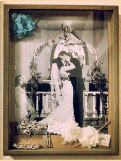 my wedding shadow box
