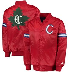 07f14fd27 Montreal Canadiens Starter Classic Retro Satin Full Snap Jacket - Red