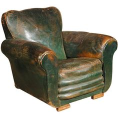 Gorgeous Avocado Green Leather Chair! | Home | Pinterest | Swivel Chair,  Chesterfield And Ottomans