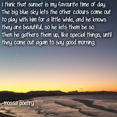 pretty words about sunsets #poem #poetry