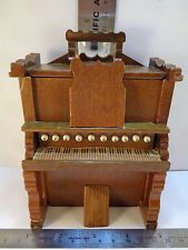 Vintage Shackman Dollhouse Miniature Furniture Working Wood Organ Piano