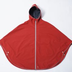 Otto London Poncho In Red   Cyclechic