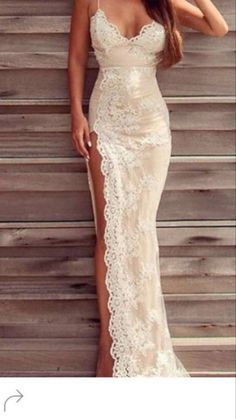 High leg slit wedding dresses