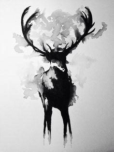 Acuarela en blanco y negro