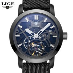US $59.99 - LIGE Sport Watch Men's Luxury Brand Relogio Masculino Military Mechanical Watches Leather Hollow Skeleton clock Relojes Hombre