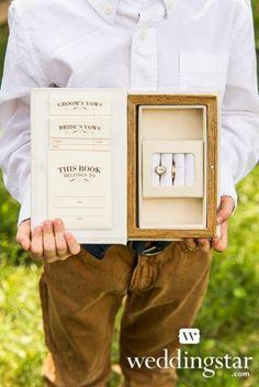 book wedding rings bearer