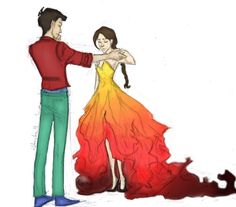 Cinna and Katniss Drawing by burdge - Painted by a-t-e-n-a