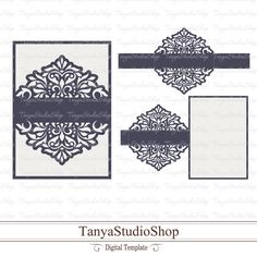 Wedding invitation - SVG, DXF, ai, CRD, eps - Laser Cut - Silhouette Cameo - Cricut - Instant Download - 067 by TanyaStudioShop on Etsy