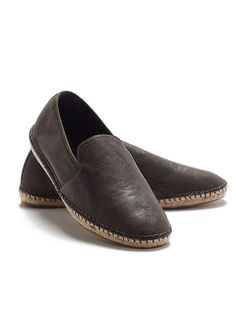 Flit Espadrille in Italian Leather and Stretch Mesh
