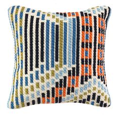 "DOWN-FILLED  BARGELLO PILLOWS   20"" x 20""   Please allow 1 - 2 weeks to ship out and receive tracking."